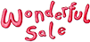 Wonderful sale